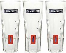 Rastal Ramazzotti Glas - 3 Stück - Designerglas