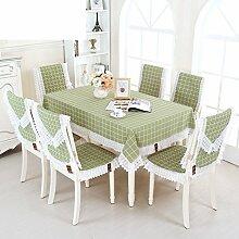 Raster Tischdecke,Stoff-tischdecke,Längliche Tischdecke,Square Tischdecke,Kissen Und Bezüge Für Die Stühle-A 100x100cm(39x39inch)