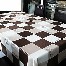 Raster Tischdecke/Table PVC Tischdecke/Qualität Öl Tischset/Wasserdichte Einwegtuch/Kunst Garten-tischdecke-A 137x220cm(54x87inch)