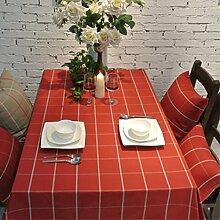 Raster-tischdecke/tee tischdecke/aus baumwolle und leinen tischdecken/längliche tischdecke-C 130x180cm(51x71inch)