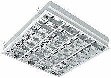 Rasterleuchte für 4x LED-Röhren, Einlegeleuchte,