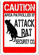 Rat Attack Co. Lustiges Schild, 20,3 x 30,5 cm,