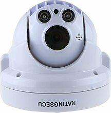 ratingsecu 2MP Kabel Netzwerk Überwachung Home Security Kamera mit eingebautem Mikrofon Unterstützung Android iOS Smartphone