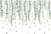 Rattan Blätter Wandaufkleber für Wohnzimmer