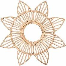 Rattan Blume Spiegelrahmen Boho Handgewebten
