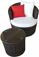 Rattan Gartenmöbel - Garten Lounge Set – rundes