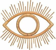 Rattan Geometrische Auge Spiegelrahmen Boho
