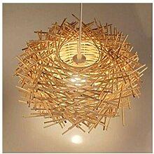 Rattan Kronleuchter Lampe Salon Vogelnest
