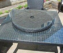 Rattan Lazy Susan Outdoor Garten Tisch Möbel in schwarz