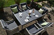 Rattan Lounge Set mit Polstern I Gartenmöbel Set
