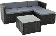 Rattan Lounge Sitzgruppe Gartenmöbel Set Sofa