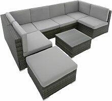 Rattan Lounge Venedig - Gartenlounge,