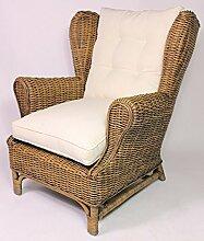 Rattan Ohrensessel King Chair, Rattansessel,