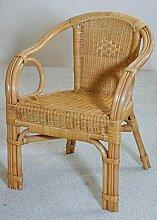 Rattan-Sessel Honig Esszimmersessel Korb-Sessel