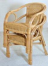 Rattan Sessel NEU in der Farbe HONIG 2 Stück