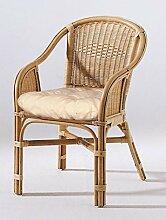 Rattan Sessel Sessel echt Rattan Honig Farben