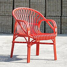 Rattan Sessel Umya in Rot Pharao24