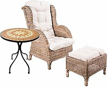 Rattan Set Relaxsessel Korbsessel Rattansessel mit