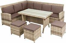 Rattan Sitzgruppe 20tlg Garten Lounge Möbel