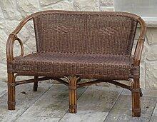 Rattan Sofa Bank (Sessel) BRAUN