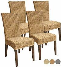 Rattan-Stuhl-Set Cardine, 4 Stück Esszimmer-Stuhl