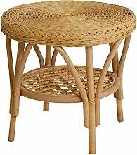 Rattan-Tisch / Beistelltisch Rund in der Farbe