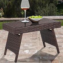 Rattan Tisch Klappbarer  Kleiner Gartentisch