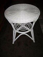 Rattan Tisch Sofatisch Rattanmöbel Ablage Rund