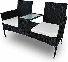 Rattan Zweisitzer Sitzgruppe Terrassenmöbel