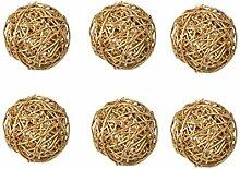 Rattanball gold Ø 5cm 6 Stück Dekoball Tischdeko