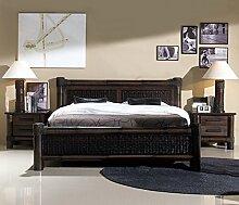 Rattanbett Kolonial Bett Liegefläche 180 x 200 |