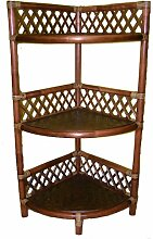 Rattanregal , Rattan Eckregal , Gr. 30 x 30 cm H 86 cm , Fb. darkbrown