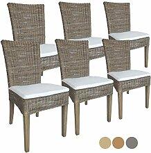 Rattanstuhl-Set Cardine 6 Stück Esszimmer-Stuhl