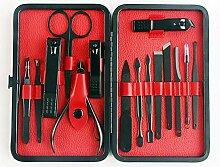 RATWIFE Schwarzen Nagel Messer Set Nagel Werkzeuge
