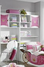 Rauch Kate Schreibtisch-/ Bettkastenschrank in alpinweiss - rosa