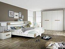 Rauch Packs's Parla Schlafzimmer bestehend aus Drehtürenschrank  und Futonbett  mit 2 Nachtischen