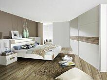 Rauch Packs's Parla Schlafzimmer bestehend aus Schwebetürenschrank und Futonbett  mit 2 Nachtischen