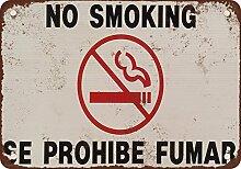 Rauchverbot Englisch und Spanisch Vintage Look
