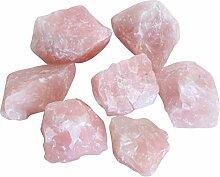 Raue Rosa Quartz Steine 1KG BEUTEL für Heim Deko, Garten, Kunst & Selbermachen
