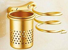 Raum Aluminium Bad Retro Haar-Racks Wandregale,Gold