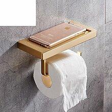 Raum Aluminium Badezimmer Toilette Toilette Toilettenpapier/Rollenpapier Handtuchhalter/Kreative Handyhalter-B
