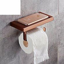 Raum Aluminium Badezimmer Toilette Toilette Toilettenpapier/Rollenpapier Handtuchhalter/Kreative Handyhalter-C