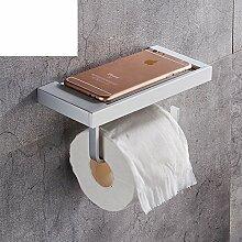 Raum Aluminium Badezimmer Toilette Toilette Toilettenpapier/Rollenpapier Handtuchhalter/Kreative Handyhalter-F