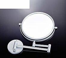 Raum Aluminium dicke Wandspiegel/Spiegel/Doppelseitige Klappspiegel teleskopisch Badezimmer/Schönheits-Spiegel