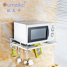 Raum Aluminium Mikrowelle Rack Doppelhaken Küche