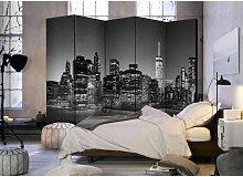 Raum Sichtschutz mit New York bei Nacht 225 cm