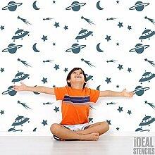 Raum Sterne Mond Kinderzimmer Wand Schablone