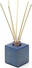Raumduft - Holzvase aus blau geöltem Buchenholz
