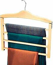 Raumspar-Hosenbügel , Kleiderhaken aus Buchenholz