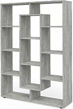 Raumteiler 11 Fächer Beton Bücherregal